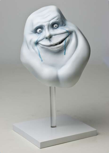 Rage FacesInspired Sculptures  Forever Alone Statue