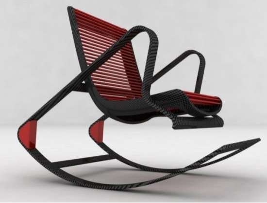 Convertible Carbon Fiber Chairs Multifunctional Fotel