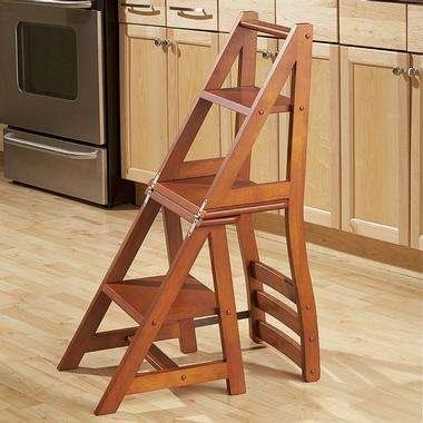 Convertible Chairs Franklin Chair Stepladder Lets You