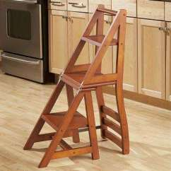 Folding Kitchen Step Stool Vintage Island Convertible Chairs: Franklin Chair Stepladder Lets You ...