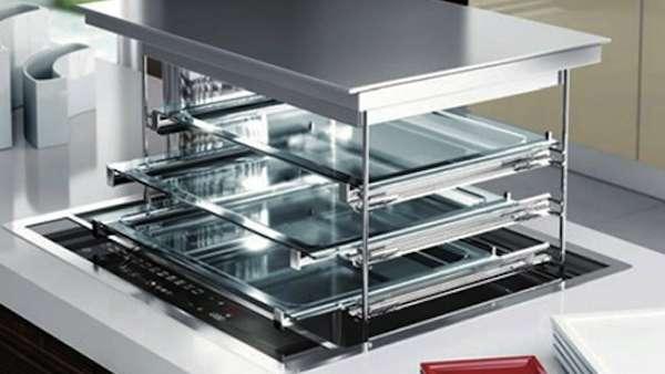 Hidden Kitchen Stoves Fulgor Lift Oven