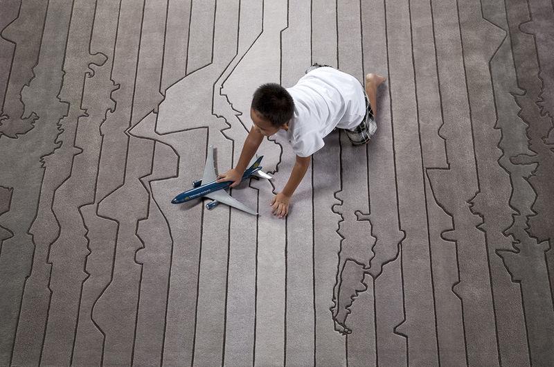 Time ZoneThemed Rugs  funky rug design