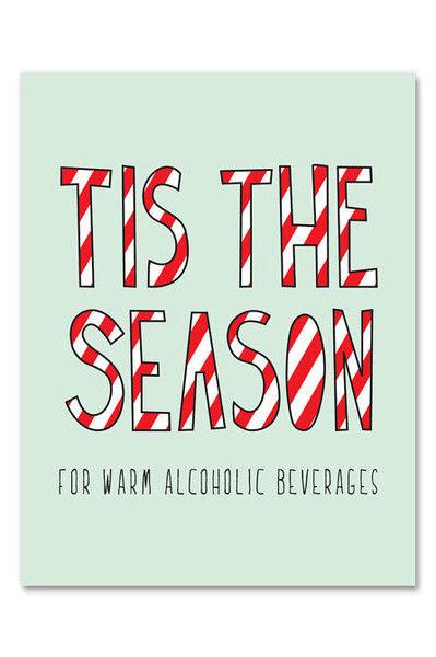 Boozy Christmas Cards Funny Christmas Card