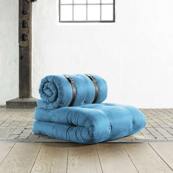 Cushioned Convertible Chairs : Futon Chair