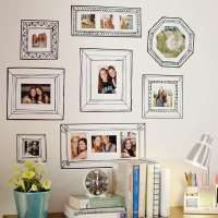 Faux Picture Frame Adornments : gallery frame decals