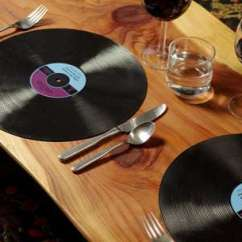 Kitchen Table With 8 Chairs Black Hardware Musical Accessories : Gamago Record Placemats