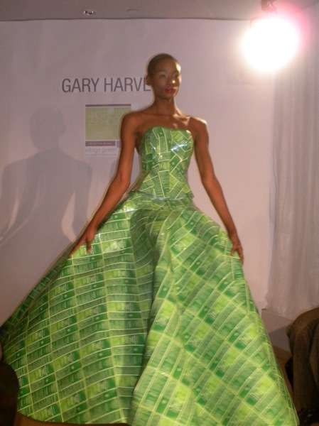Quilted Eco Couture  gary harvey new york green fashion week