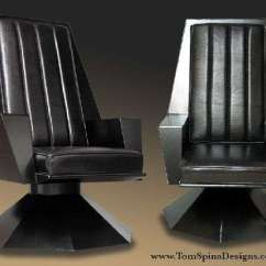 Custom Made Throne Chairs Kitchen Stool Chair Star Trek Replica Chairs: Galactic Supreme Commander