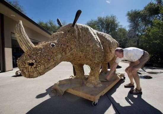 Crazy Cork Safari Animals : Giant Cork Rhino