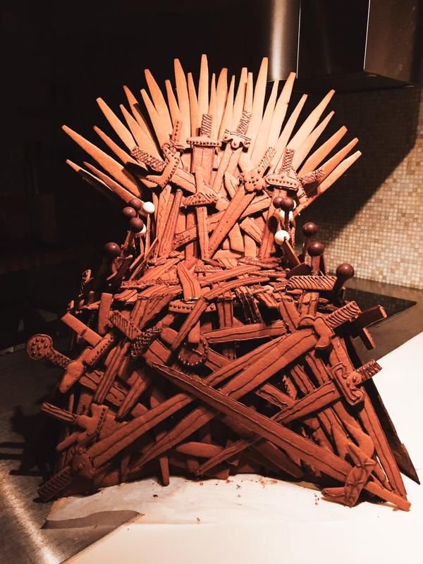 game of throne chair hanging decor throne-themed gingerbread : house ideas