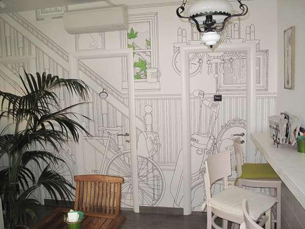 Charming Illustrated Walls  Glamora Creative Wallcoverings