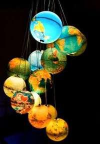 Otherworldly Light Fixtures : Globe Chandelier