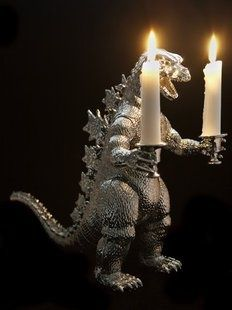 Monstrous Candle Holders  godzilla 2014