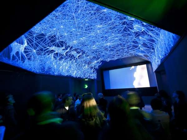 3D Ceiling Constellations  grotte stellaire installation