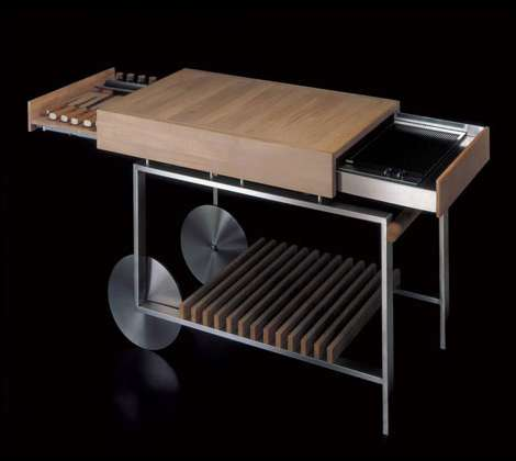 SlideOut Grills The Gunni Movable Kitchen Island with