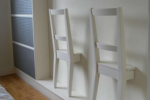 Severed Seat Storage  half ikea bertil chair hangers