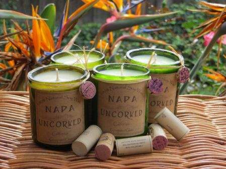 Upcycled Wine-Scented Candles : handmade candles