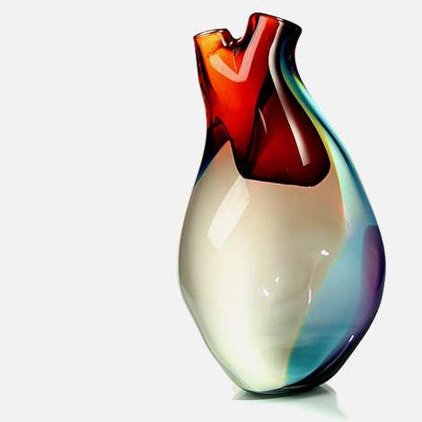 Life Pumping Vase Designs Heart Shaped Vases