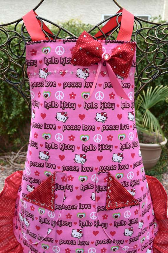 kitchen wear delta faucet replacement parts child friendly hello kitty apron