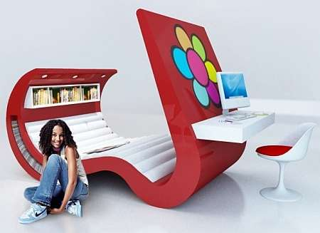 cool chairs for teens chair rail molding profiles hi tech teenage furniture: the wave chaise with built in tv