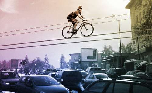 High Wire Cycling Riding A Fine Line Between Extreme And