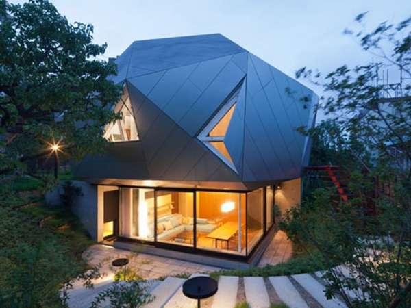 SciFi Angular Abodes  Hironaka House by Ken Yokogawa