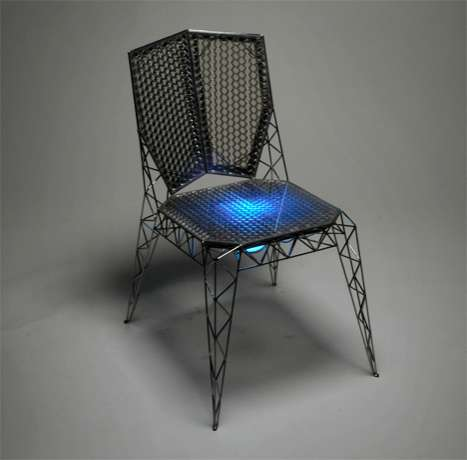 Honeycomb Based Furniture Eiffel Tower Inspired Six Chairs