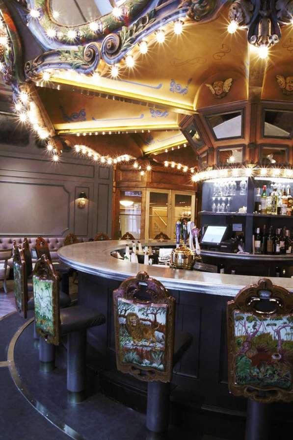 Spinning Bar Tops  hotel monteleone carousel bar