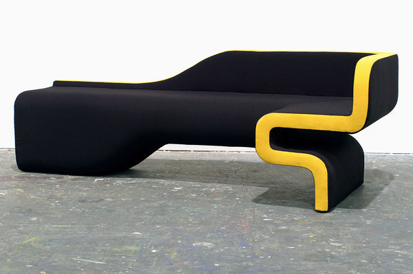 Groovy Asymmetrical Seating  Hunting Lines Sofa