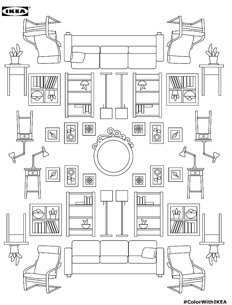 Branded Furniture Coloring Books : IKEA coloring book
