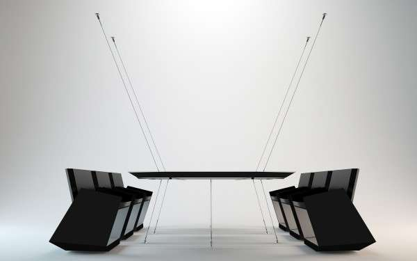 WireSuspended Furniture  infinity conference table