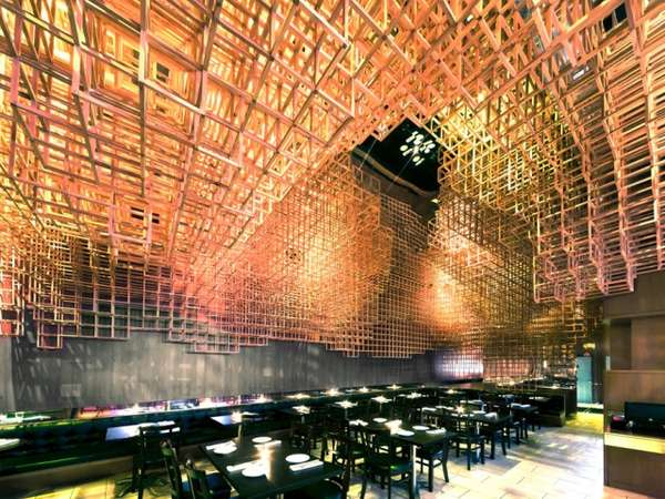 Jenga-Inspired Eateries : Innuendo Restaurant By Bluarch