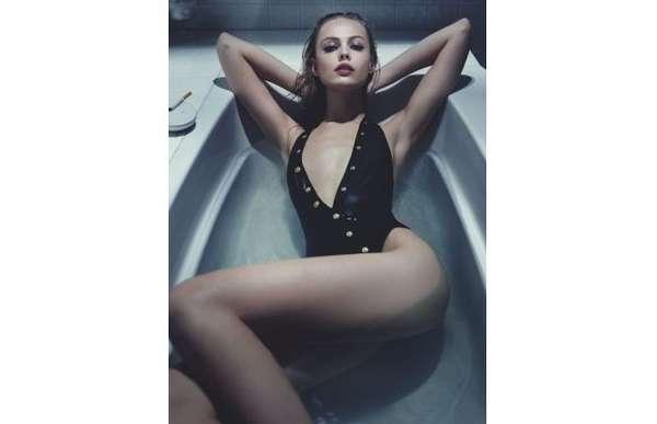 Bathtub Swimsuit Editorials Interview Magazine June July 2013