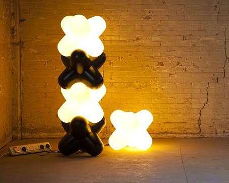 Crisscrossed Stacking Lamps  Jack Light White