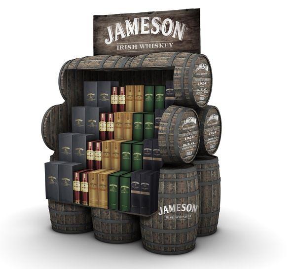 Agricultural Alcohol Displays  Jameson Retail Display