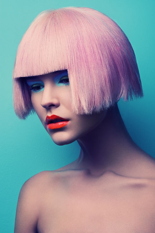 Electric Hued Wig Portraits Jeff Tse Candy Beauty