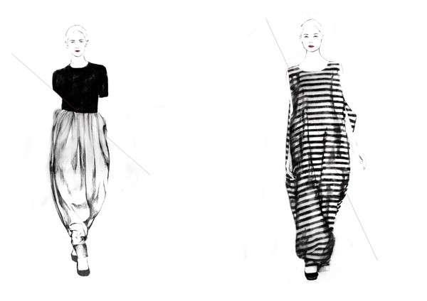 Fashion Illustration Lookbooks : Jil Sander SS11