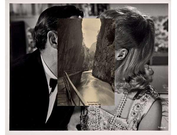 Superimposed Postcard Photography  John Stezaker