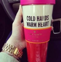 Stylish Hand-Warming Mugs : kate spade travel