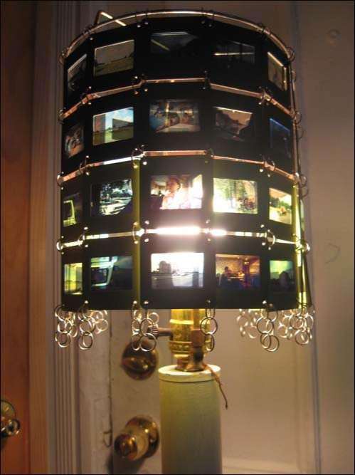 Kodachrome Lamps Film Slides Get Enlightened  Repurposed as Shade