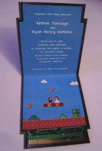 Gamer Wedlock Invites : Larry t quach super mario bross ...
