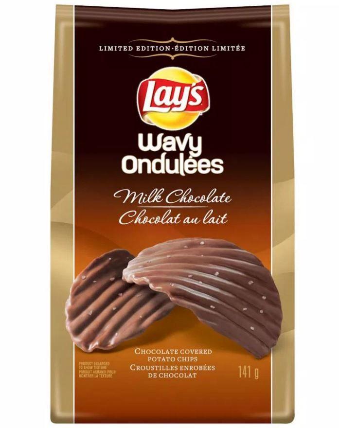 Chocolate Covered Potato Chips Lays Wavy Milk Chocolate