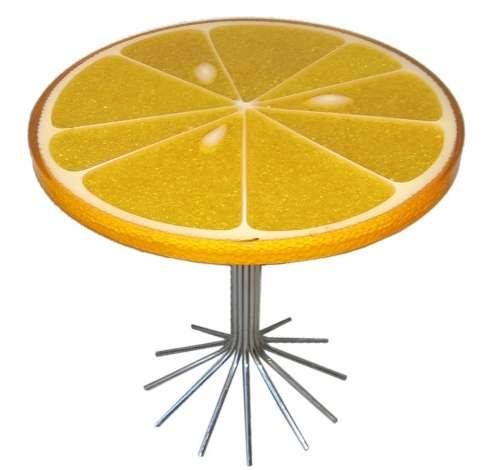 Sour Citrus Surfaces  Lemon Slice Table
