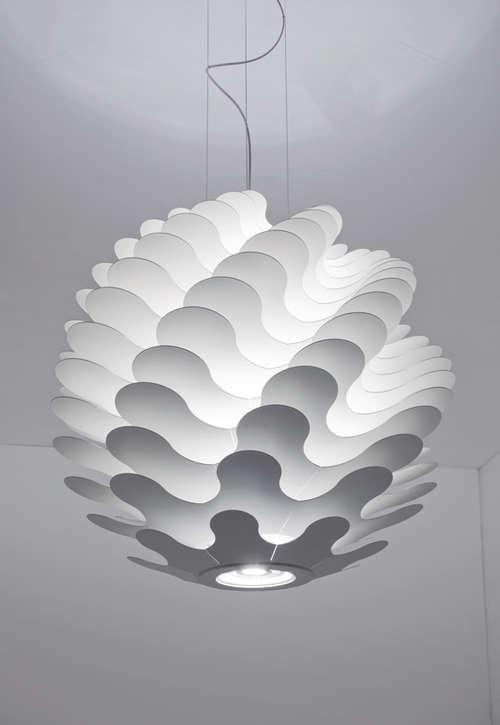 Undulating Spherical Lighting  Libera Pendant Lamp