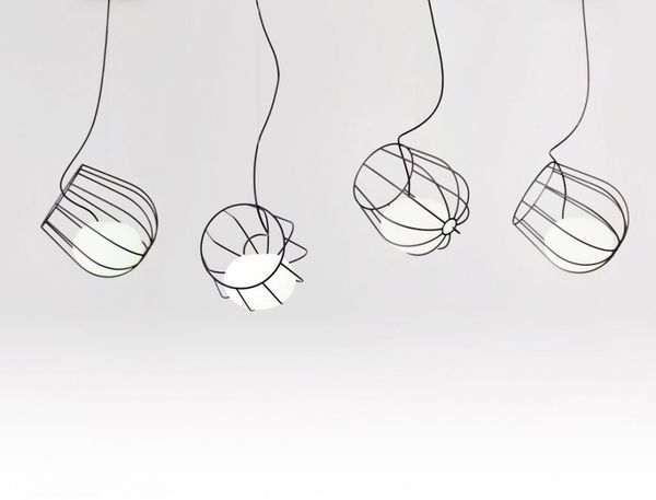 Wireframe Lightbulb Baskets  Light Container Lamp