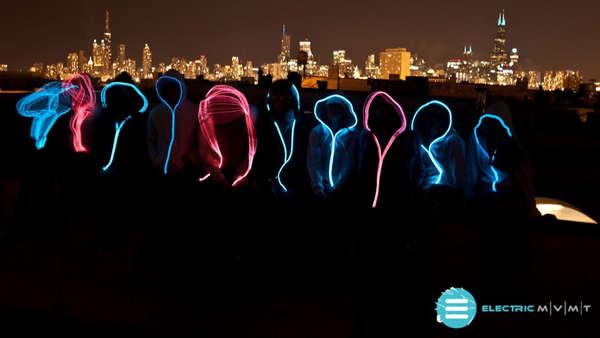 Wireless Neon Sweaters  light up hoodies