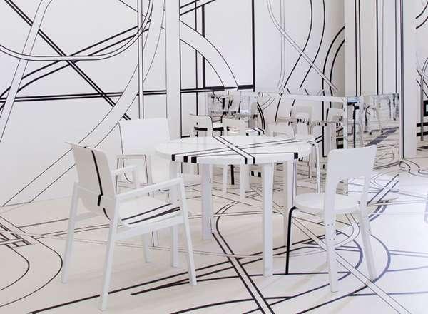Optical Illusion Interiors  Logomo Cafe