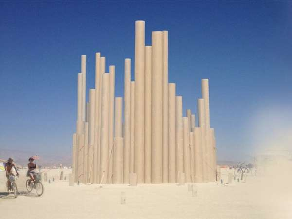 Musical Cylinder Structures Loopcamp By Malka Architecture