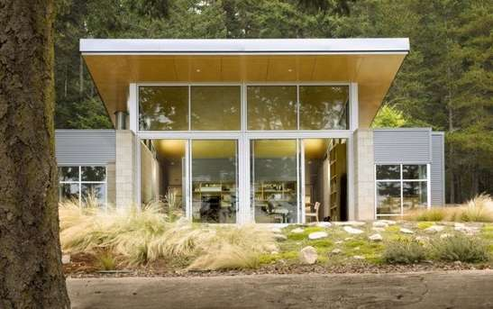 Contemporary Woodland Chalets  Lopez island cabin