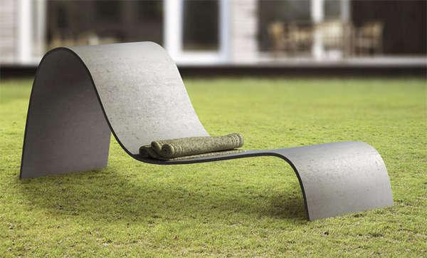 Sculptural Outdoor Seating  Lounger Chair